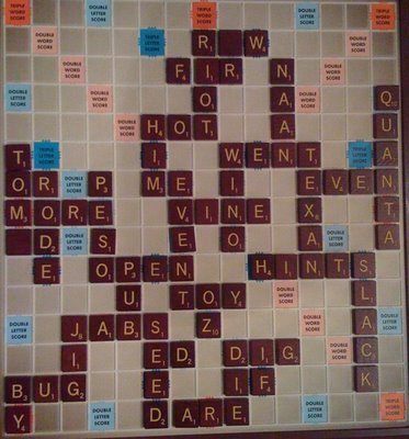 my Winning Scrabble board