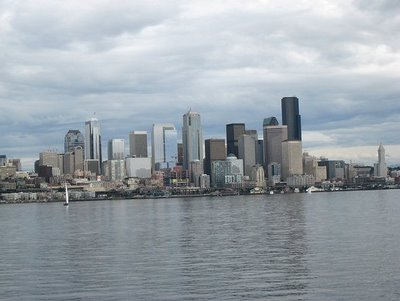 Seattle from the Bainbridge Ferry