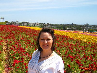Lura at the Carlsbad Flower fields