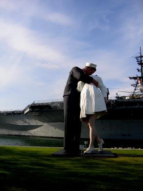 Giant VJ Day Kiss San Diego